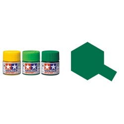 Gloss Green , Verde Brillo (81505). Bote 10 ml. Marca Tamiya. Ref: X-5.