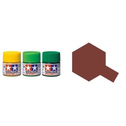 Gloss Brown, Marron Brillo (81509). Bote 10 ml. Marca Tamiya. Ref: X-9.