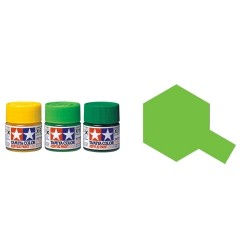 Gloss Light Green, Verde Claro Brillo (81515). Bote 10 ml. Marca Tamiya. Ref: X-15.