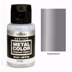 Acrilico Metal color, Duraluminio. Bote 32 ml. Marca Vallejo. Ref: 77702.