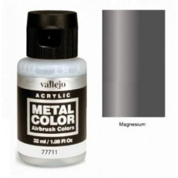 Acrilico Metal color, Magnesio. Bote 32 ml. Marca Vallejo. Ref: 77711.