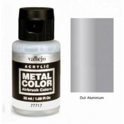 Acrilico Metal color, Aluminio mate. Bote 32 ml. Marca Vallejo. Ref: 77.717.