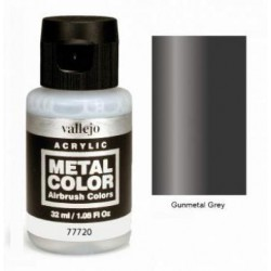 Acrilico Metal color, Gris metalizado. Bote 32 ml. Marca Vallejo. Ref: 77720.