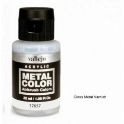 Acrilico Metal color, barniz metal brillante. Bote 32 ml. Marca Vallejo. Ref: 77657.