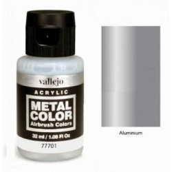 Acrilico Metal color, Aluminio. Bote 32 ml. Marca Vallejo. Ref: 77701.