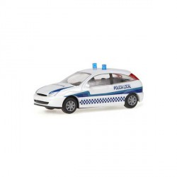 Ford Focus Policia Local, Escala H0, Rietze, Ref: 50965.