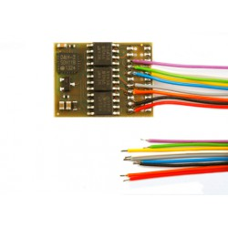 Decodificador DH21A-3, SX1, SX2, DCC y MM, de cables, muy fino.