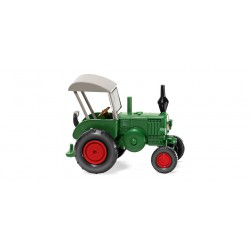 Tractor Ford Lanz Bulldog mit Dach, Color Verde, Escala H0, Wiking, Ref: 088008.