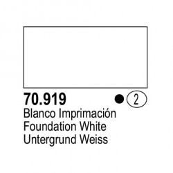 Acrilico Model Color, Blanco frio, ( 002 ). Bote 17 ml. Marca Vallejo. Ref: 70.919
