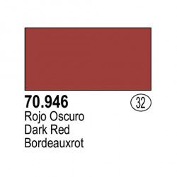 Acrilico Model Color, Rojo oscuro, ( 032 ). Bote 17 ml. Marca Vallejo. Ref: 70.946.