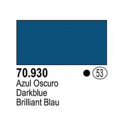 Acrilico Model Color, Azul oscuro, ( 053 ). Bote 17 ml. Marca Vallejo. Ref: 70.930.
