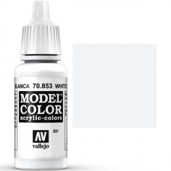 Acrilico Model Color, Patina blanca, ( 201 ). Bote 17 ml. Marca Vallejo. Ref: 70.853.