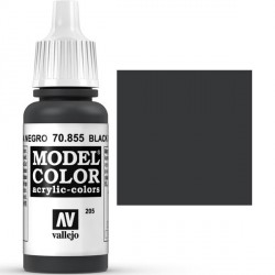 Acrilico Model Color, Patina negro, ( 205 ). Bote 17 ml. Marca Vallejo. Ref: 70.855.