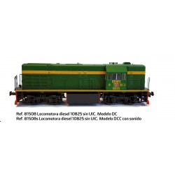 Loc. Diesel RENFE 10825, Verde Oscuro, S.Limitada, Anal/Dig, H0. Marca Mabar, Ref: 81508.