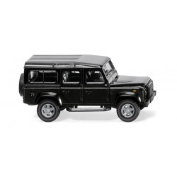 Land Rover Defender 110, Color negro, Escala H0, Wiking, Ref: 010201.