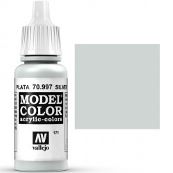 Acrilico Model Color, Plata ( 171 ). Bote 17 ml. Marca Vallejo. Ref: 70.997.