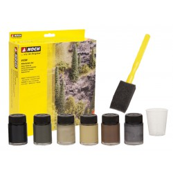 Set de colores naturales, 6 colores, Todas las escalas. Marca Noch, Ref: 61200.