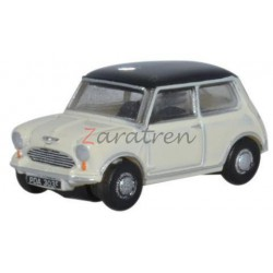 Mini Austin, Color Blanco-Negro, Escala N. Marca Oxford, Ref: NMN002.