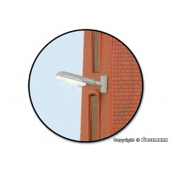 Farola industrial de pared, 17 mm, Led Blanco, Escala N. Marca Viessmann. Ref: 6489.