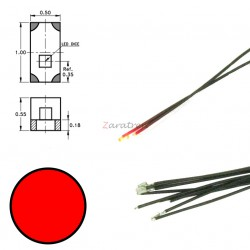 Cinco SMD,s con cable y resistencia 0402, Color Rojo Digikeijs, Ref: DR60048.
