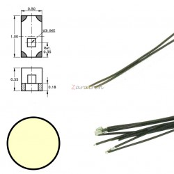 Cinco SMD,s con cable y resistencia 0402, Color Blanco Calido, Digikeijs, Ref: DR60049.