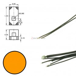 Cinco SMD,s con cable y resistencia 0402, Color Naranja, Digikeijs, Ref: DR60092.