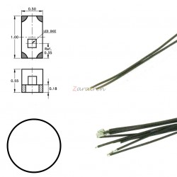Cinco SMD,s con cable y resistencia 0402, Color Blanco Frio, Digikeijs, Ref: DR60093.
