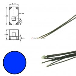 Cinco SMD,s con cable y resistencia 0402, Color Azul, Digikeijs, Ref: DR60094.