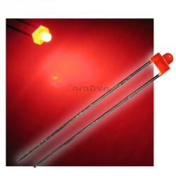 Led Rojo de 1,8 mm con resistencia.