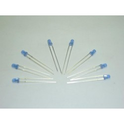 Kit de 8 Led Azules FLASH de 3 mm con resistencias.