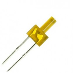 Led Amarillo de 2 mm con resistencia.