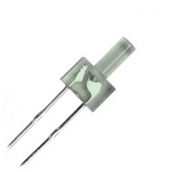 Led Blanco de 2 mm con resistencia.
