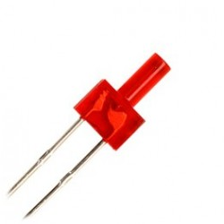 Led Rojo de 2 mm con resistencia.