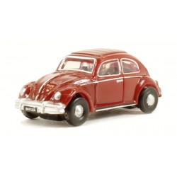 Escarabajo VW Beetle Ruby Red, Escala N. Marca Oxford, Ref: NVWB002.
