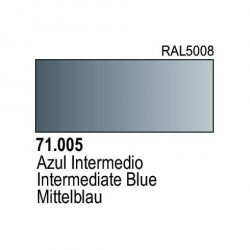Acrilico Model Air Azul Intermedio. Bote 17 ml. Marca Vallejo. Ref: 71.005.