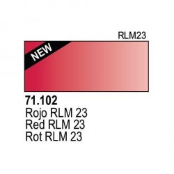 Acrilico Model Air Rojo. Bote 17 ml. Marca Vallejo. Ref: 71.102.
